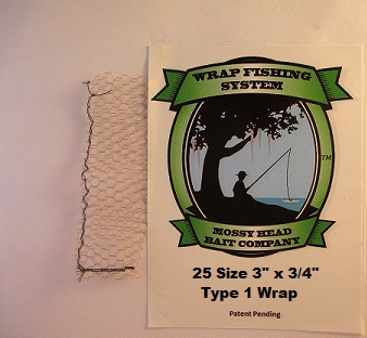 25 size 3 x 3 4 type 1 wraps wraps only for Wrap fishing system